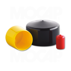 """12 Square Push On Hard Plastic End Caps Covers for 1//2/"""" Square Rod"""